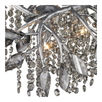 Golden Lighting 9903-6-MSI Autumn Twilight 6 Light 31 inch Mystic Silver Chandelier Ceiling Light in Electroplated Smoke Leaded Crystal alternative photo thumbnail