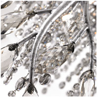 Autumn Twilight 4 Light 7 inch Mystic Silver Mini Pendant Ceiling Light in  Electroplated Smoke Leaded Crystal