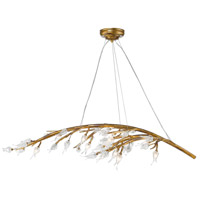 Aiyana 12 Light 54 inch Gold Leaf Chandelier Ceiling Light in Clear Glass