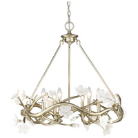 Aiyana 6 Light 28 inch Silver Leaf Chandelier Ceiling Light