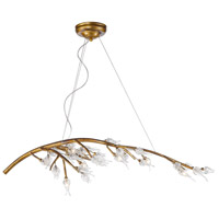 Aiyana 7 Light 47 inch Gold Leaf Chandelier Ceiling Light in Clear Glass