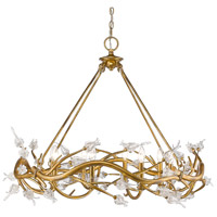 Golden Lighting Aiyana 8 Light Chandelier in Gold Leaf 9942-8-GL