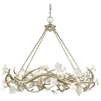 Golden Lighting Aiyana 8 Light Chandelier in Silver Leaf 9942-8-SL