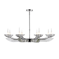 Nan 8 Light 39 inch Chrome Chandelier Ceiling Light, Iberlamp