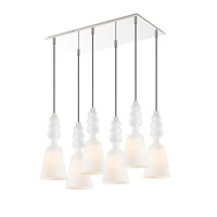Sil 6 Light 24 inch Chrome Multi-Pendant Ceiling Light, Iberlamp