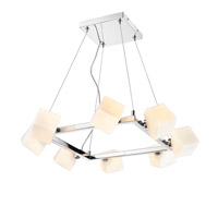 Golden Lightings Iberlamp Volga 8 Light Chandelier in Chrome C165-08-CH