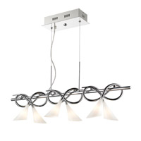 Lisa 6 Light 39 inch Chrome Island Ceiling Light