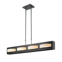 Golden Lightings Iberlamp Mara 4 Light Island in Chrome and Black Acrylic C168-L4-CH