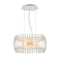 Golden Lightings Iberlamp Terra 12 Light Chandelier in Chrome C180-S-WH