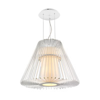 Delhi 7 Light 26 inch Chrome Pendant Chandelier Ceiling Light in Large, Iberlamp