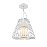 Delhi 7 Light 18 inch Chrome Pendant Chandelier Ceiling Light in Small, Iberlamp