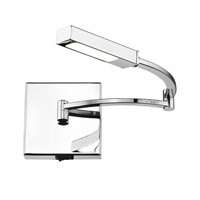 Sleep LED 5 inch Chrome Wall Sconce Wall Light, Swing Arm, Iberlamp
