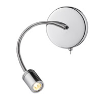 Ply LED 5 inch Chrome Wall Sconce Wall Light, Flex Arm, Iberlamp