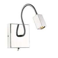 Golden Lightings Iberlamp Ply LED Flex Arm Sconce in Chrome C204-SQ-CH