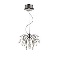 Golden Lightings Iberlamp Palm 9 Light Mini Chandelier in Chrome C304-09-CH