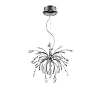 Palm 16 Light 26 inch Chrome Pendant Chandelier Ceiling Light in Clear Faceted Crystal, Iberlamp