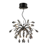 Palm 16 Light 26 inch Graphite Pendant Chandelier Ceiling Light in Graphite Tinted Faceted Crystal, Iberlamp