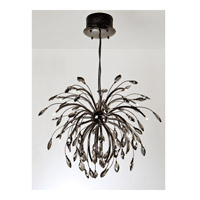 Palm 25 Light 36 inch Graphite Pendant Chandelier Ceiling Light in Graphite Tinted Faceted Crystal, Iberlamp