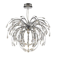 Palm  Inch Chrome Pendant Chandelier Ceiling Light In Clear