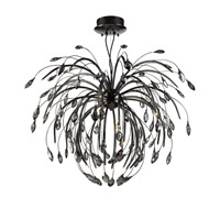 Palm 32 Light 46 inch Graphite Pendant Chandelier Ceiling Light in Graphite Tinted Faceted Crystal, Iberlamp