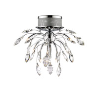 Golden Lightings Iberlamp Palm 9 Light Flush Mount in Chrome C304-F9-CH