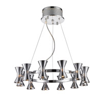 Kim 12 Light 22 inch Chrome Chandelier Ceiling Light in Chrome Glass