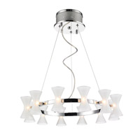 Golden Lightings Iberlamp Kim 12 Light Chandelier in Chrome C308-12-CH-FR