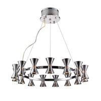 Kim 15 Light 26 inch Chrome Chandelier Ceiling Light in Chrome Glass