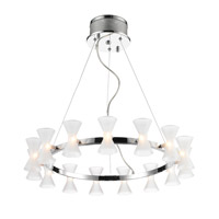 Kim 15 Light 26 inch Chrome Chandelier Ceiling Light in Frosted Glass