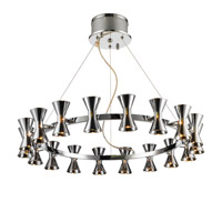 Kim 18 Light 29 inch Chrome Chandelier Ceiling Light in Chrome Glass