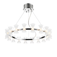 Kim 18 Light 29 inch Chrome Chandelier Ceiling Light in Frosted Glass
