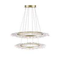 Golden Lighting Halo LED Chandelier in White Gold C350-SM-WG