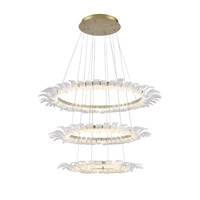 Golden Lighting Halo LED Chandelier in White Gold C350-SML-WG