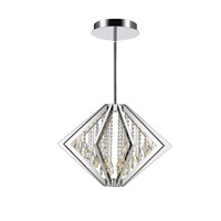 Bezel LED 26 inch Chrome Pendant Ceiling Light in Medium, Iberlamp