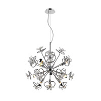 Flora LED 27 inch Chrome Pendant Ceiling Light, Iberlamp