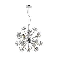 Golden Lighting C354-09-CH Flora LED 27 inch Chrome Pendant Ceiling Light Iberlamp