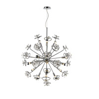 Flora LED 39 inch Chrome Pendant Ceiling Light, Iberlamp