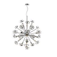 Golden Lighting C354-15-CH Flora LED 39 inch Chrome Pendant Ceiling Light Iberlamp