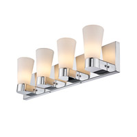 Golden Lightings Iberlamp Cono 4 Light Bath Fixture in Chrome C731-V4-CH