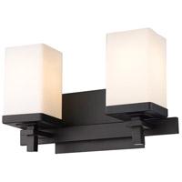 Golden Lighting DDDD-BA2 BLK-OP Maddox 2 Light 13 inch Matte Black Bath Fixture Wall Light
