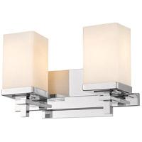Golden Lighting DDDD-BA2 Maddox 2 Light 13 inch Chrome Bath Fixture Wall Light