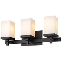 Golden Lighting DDDD-BA3 BLK-OP Maddox 3 Light 20 inch Matte Black Bath Fixture Wall Light