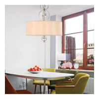 Golden Lighting Cerchi 3 Light Pendant in Chrome with Opal Satin Shade 1030-3P-CH alternative photo thumbnail