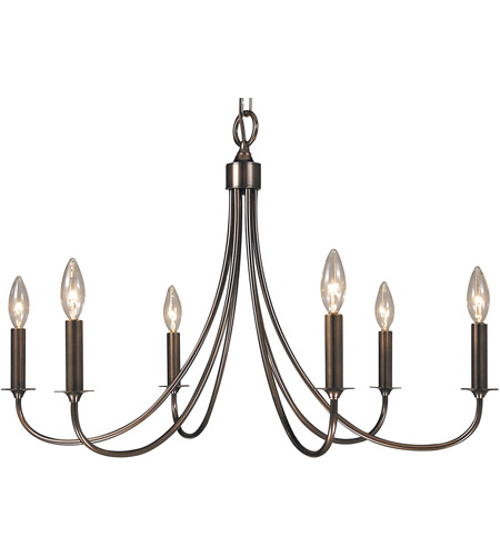 Framburg 1006RB Maisonette 6 Light 28 inch Roman Bronze Dining Chandelier Ceiling Light photo