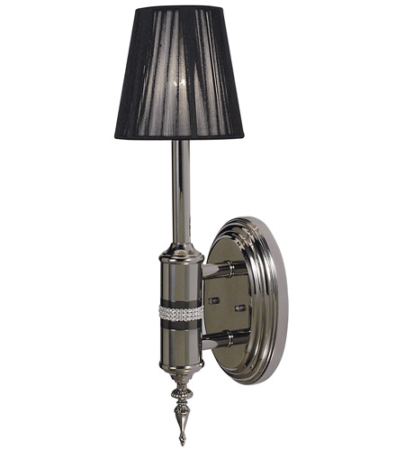 HA Framburg Princessa 1 Light Bath Light in Polished Silver  w/ Ebony Accents 1081PS/EB photo
