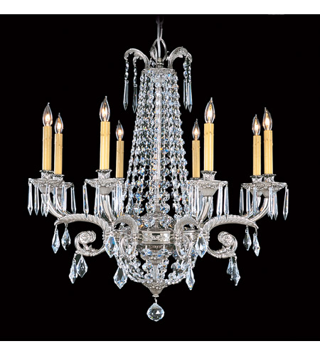 Framburg 1148PS Czarina 8 Light 30 inch Polished Silver Chandelier Ceiling Light photo