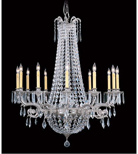 HA Framburg Czarina 12 Light Foyer Chandelier in Polished Silver 1152PS photo