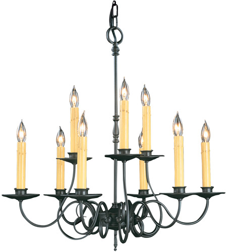HA Framburg Black Forest 9 Light Chandelier in Charcoal 1319CH photo