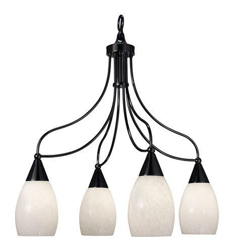 HA Framburg Simplicity 4 Light Chandelier in Ebony 1360EBONY photo