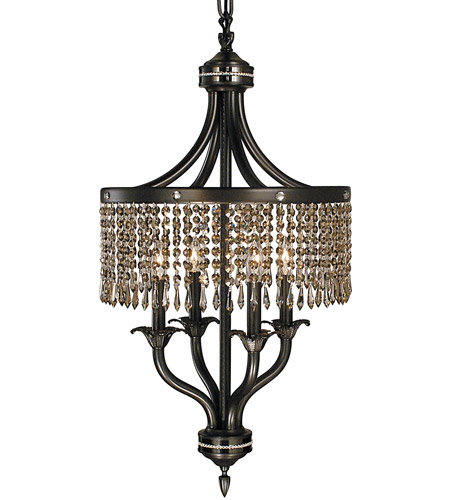 Framburg 1494MB/EB Empress 4 Light 17 inch Mahogany Bronze/Ebony Dinette Chandelier Ceiling Light in Without Crystal photo